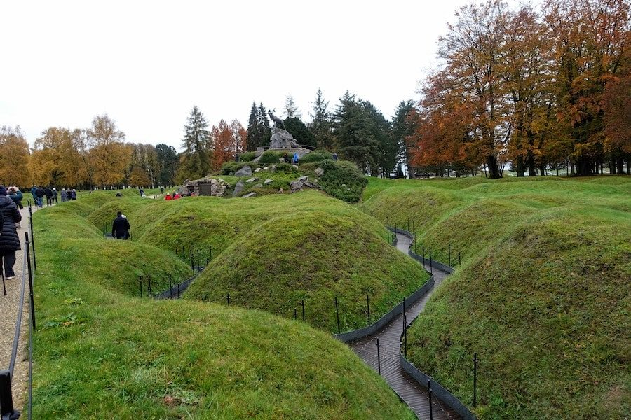 Preserved Trench system at Newfoundland Park Memorial near Beaumont Hamel on the Somme - Western Front Private Tour